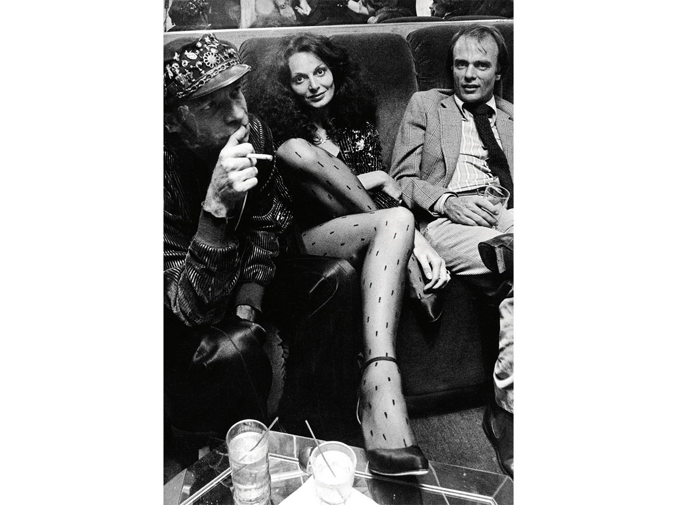 DVF and hair stylist Ara Gallant (left) at Studio 54