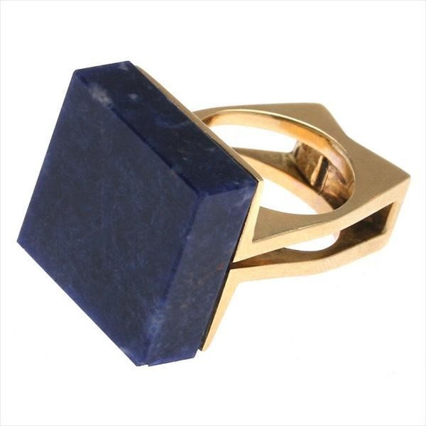 Cartier 18kt Gold & Lapis Modernist Ring
