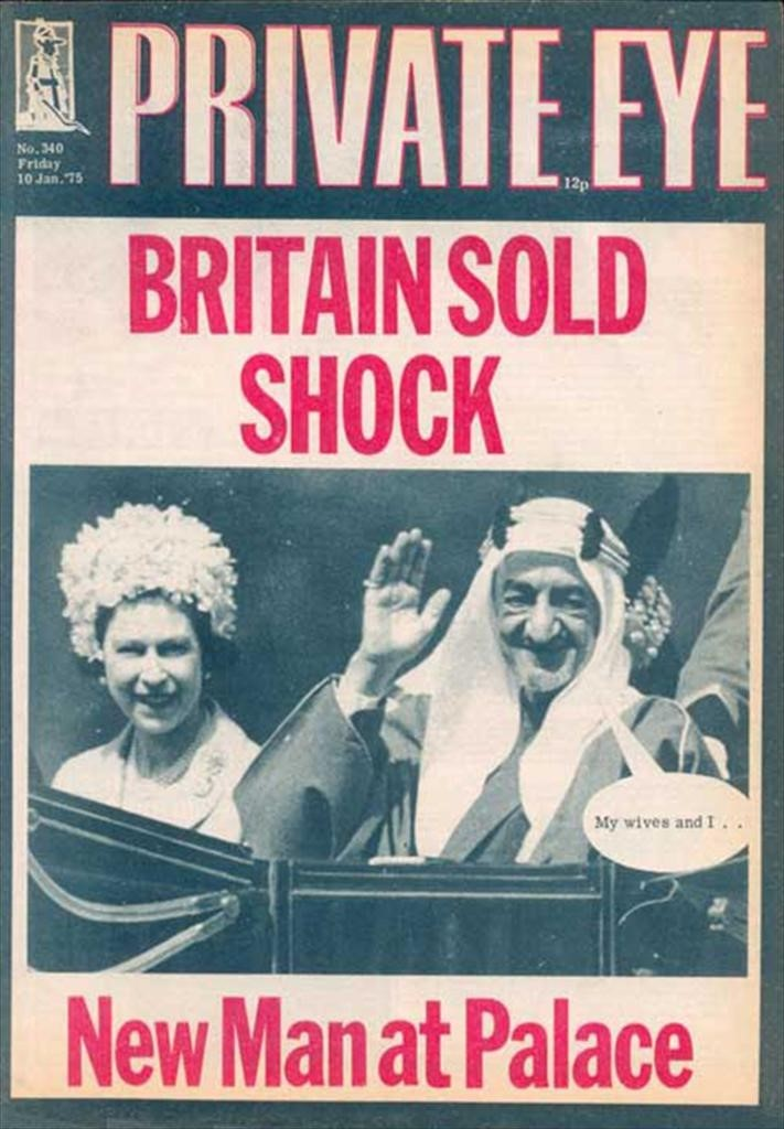 Private Eye front cover, No.340, 10 January, 1975