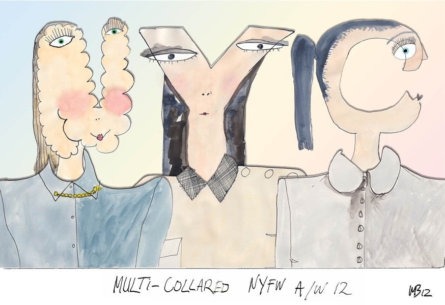 Multi-collared at NYFW A/W12