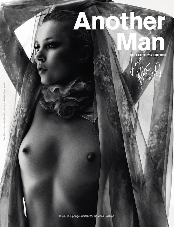 Collector's Edition of Another Man, S/S12 featuring Kate Mos
