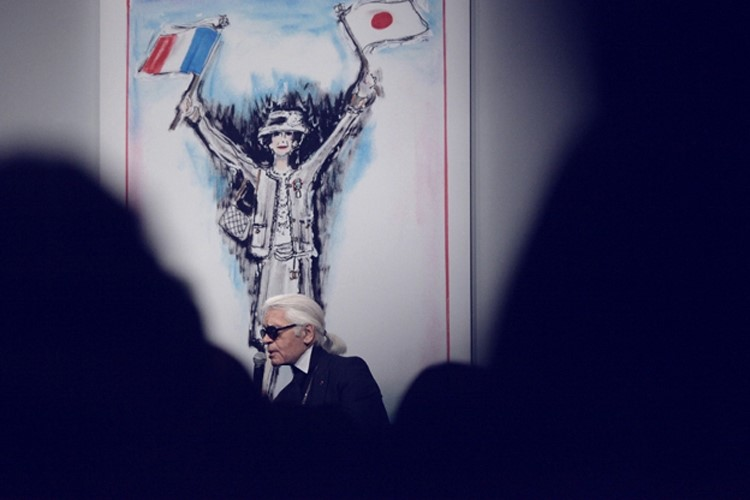 Karl Lagerfeld at Chanel and Japan Pop-Up and Party
