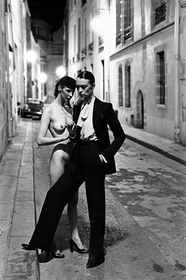 Yves Saint Laurent, French Vogue, Rue Aubriot, Paris, 1975