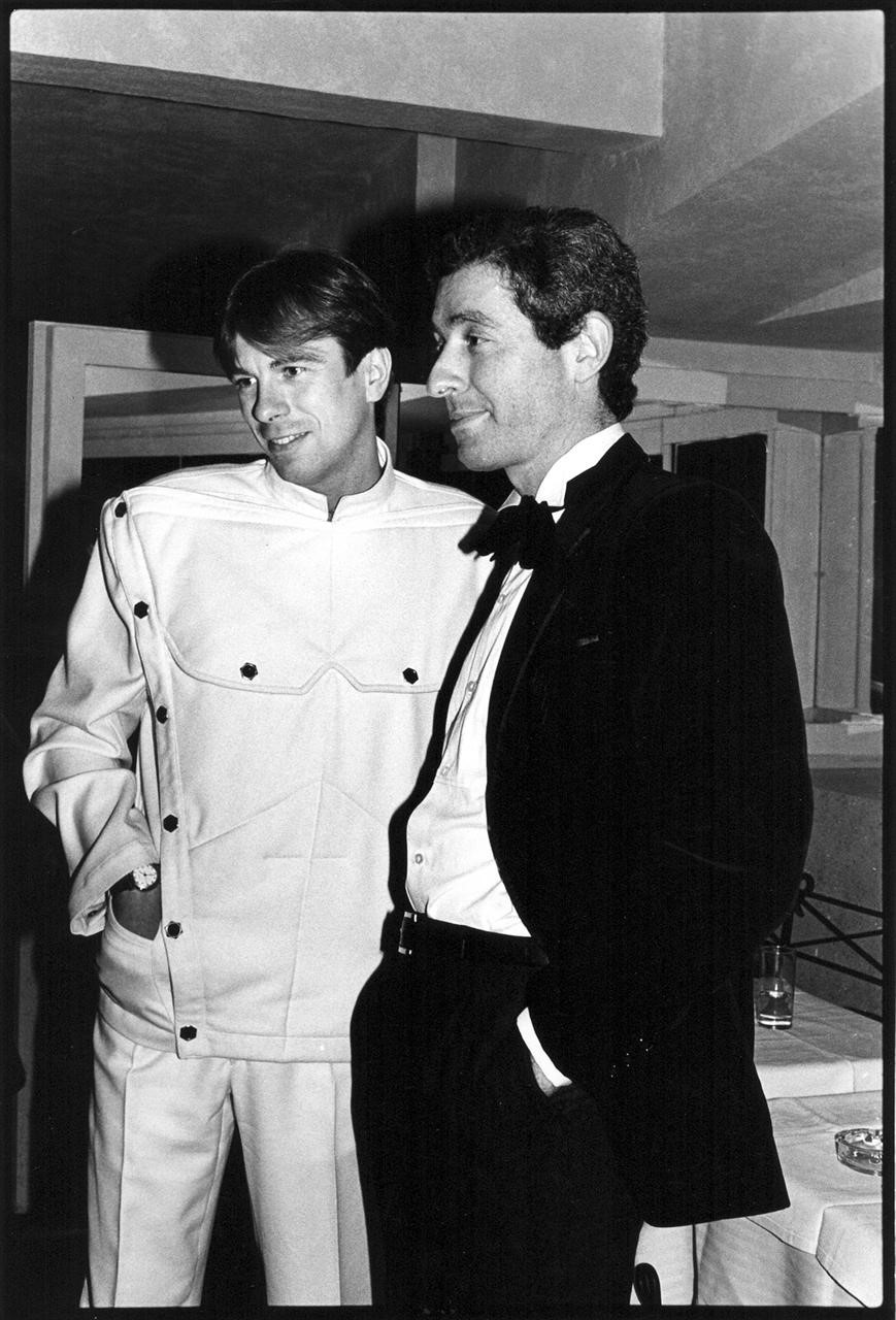 Thierry Mugler and Didier Grumbach at the Palace in 1980