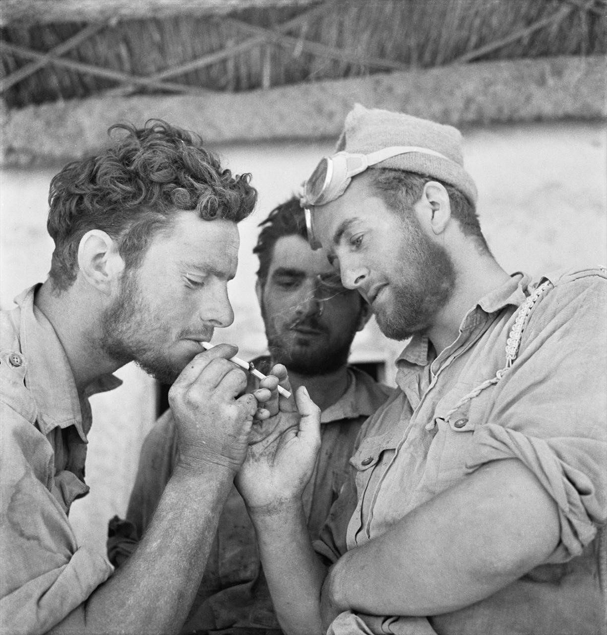 Men of the Long Range Desert Group, Siwa, Libya, 1942