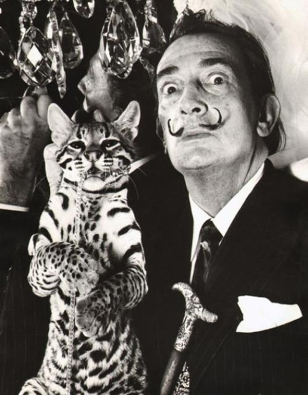 Dalí and Babou at the St. Regis hotel, New York where Dalí h