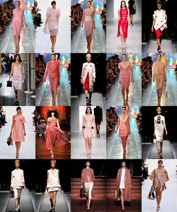 Pink looks from the S/S13 collections