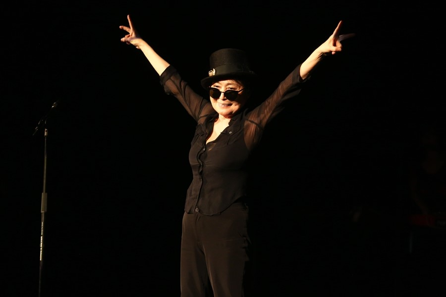 Yoko Ono at her 80th birthday party