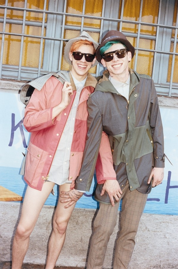 Eric Lyle Lodwick and Cole Mohr in Marc Jacobs S/S13