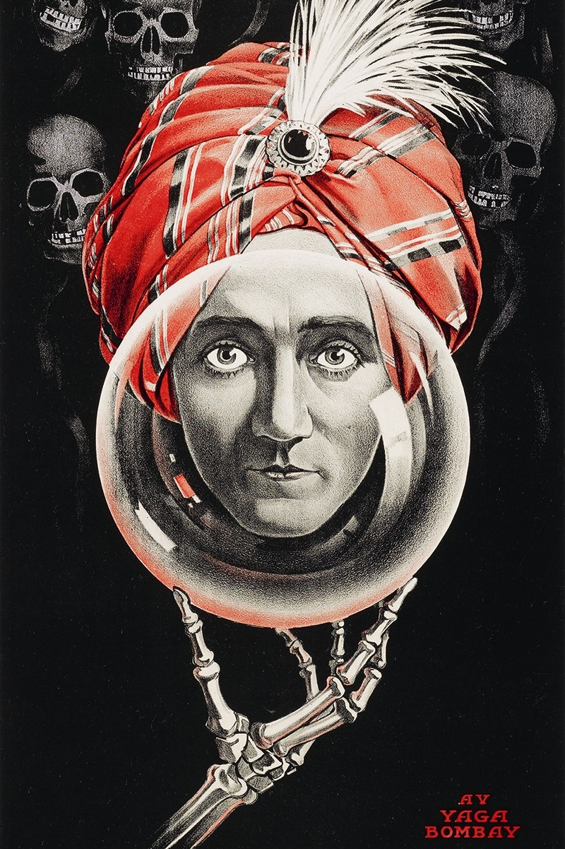Poster for American mindreading star Alexander, 1915