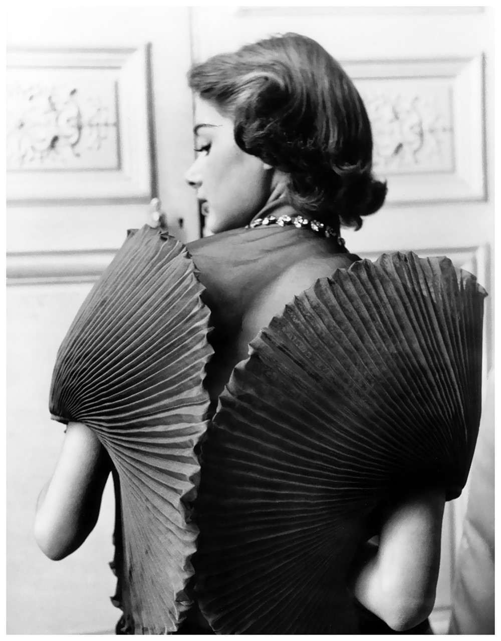 Jacqueline Marsel in a dress by Elsa Schiaparelli, 1951