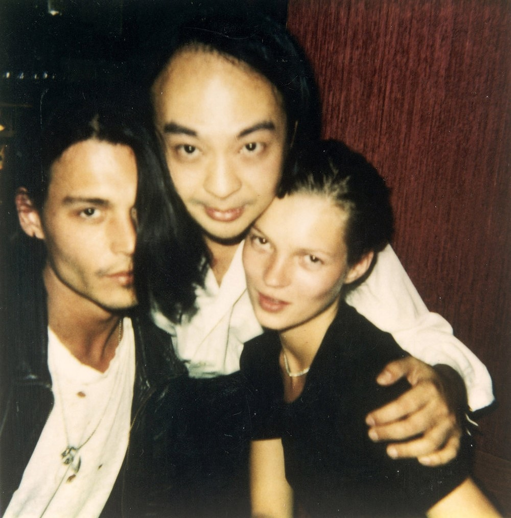 Johnny Depp, Dave and Kate Moss