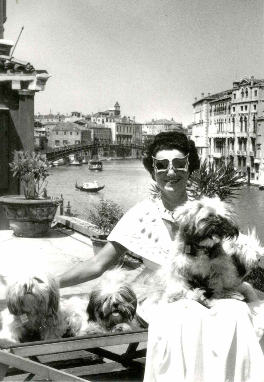 Peggy Guggenheim and her dogs