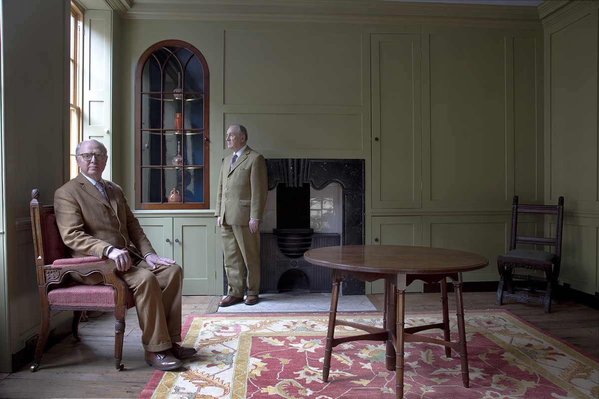 Gilbert & George in their home at Fournier Street, London