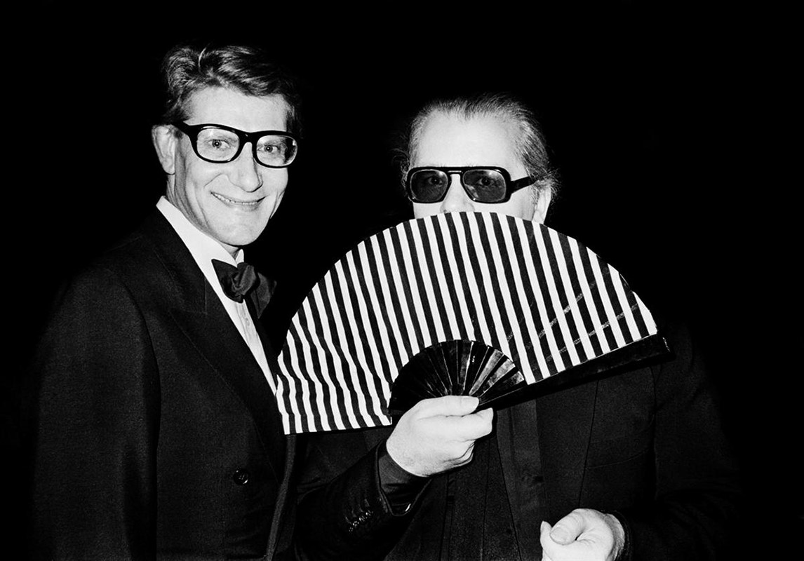 Karl Lagerfeld and Yves Saint Laurent, 1982