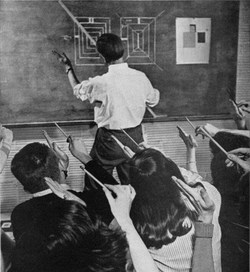 Josef Albers teaches at Black Mountain College