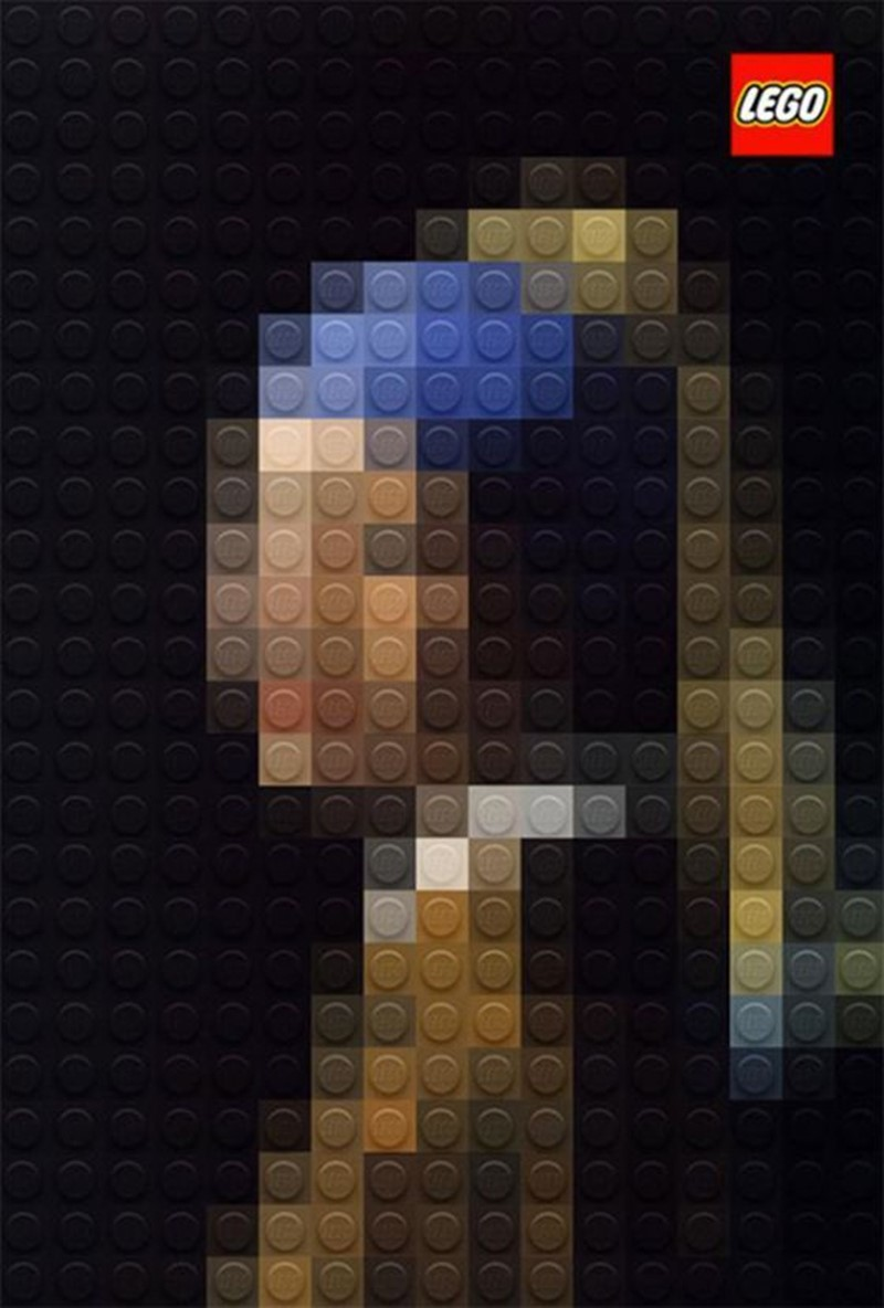 Johannes Vermeer, Girl with a Pearl Earring, 1665 in Lego