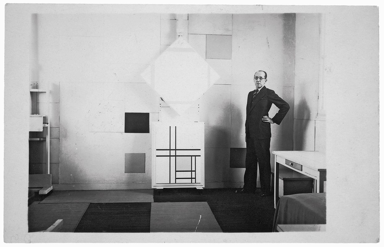 Mondrian in his Paris Studio