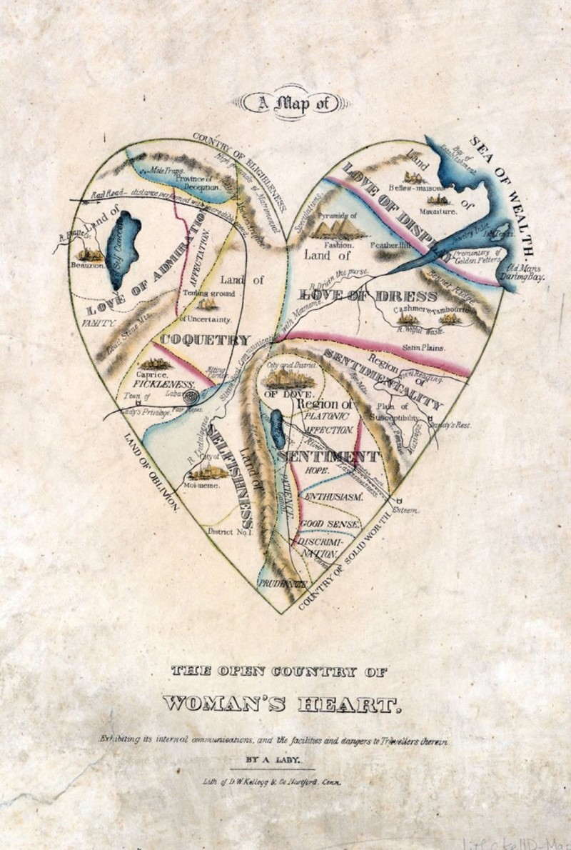 A Map of the Open Country of a Womans' Heart, c. 1833–1842