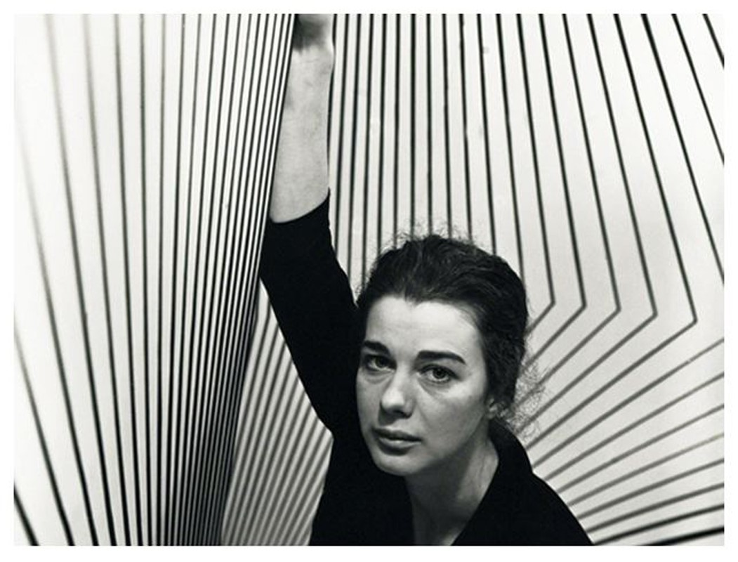 Bridget Riley with her Op Art, 1963