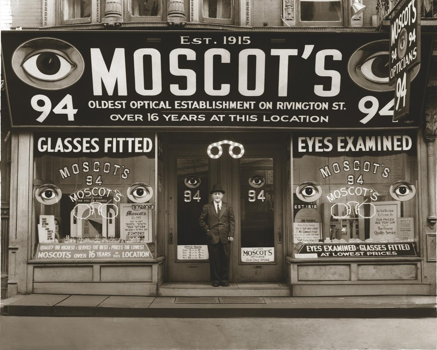 Hyman Moscot on Rivington Street, 1934