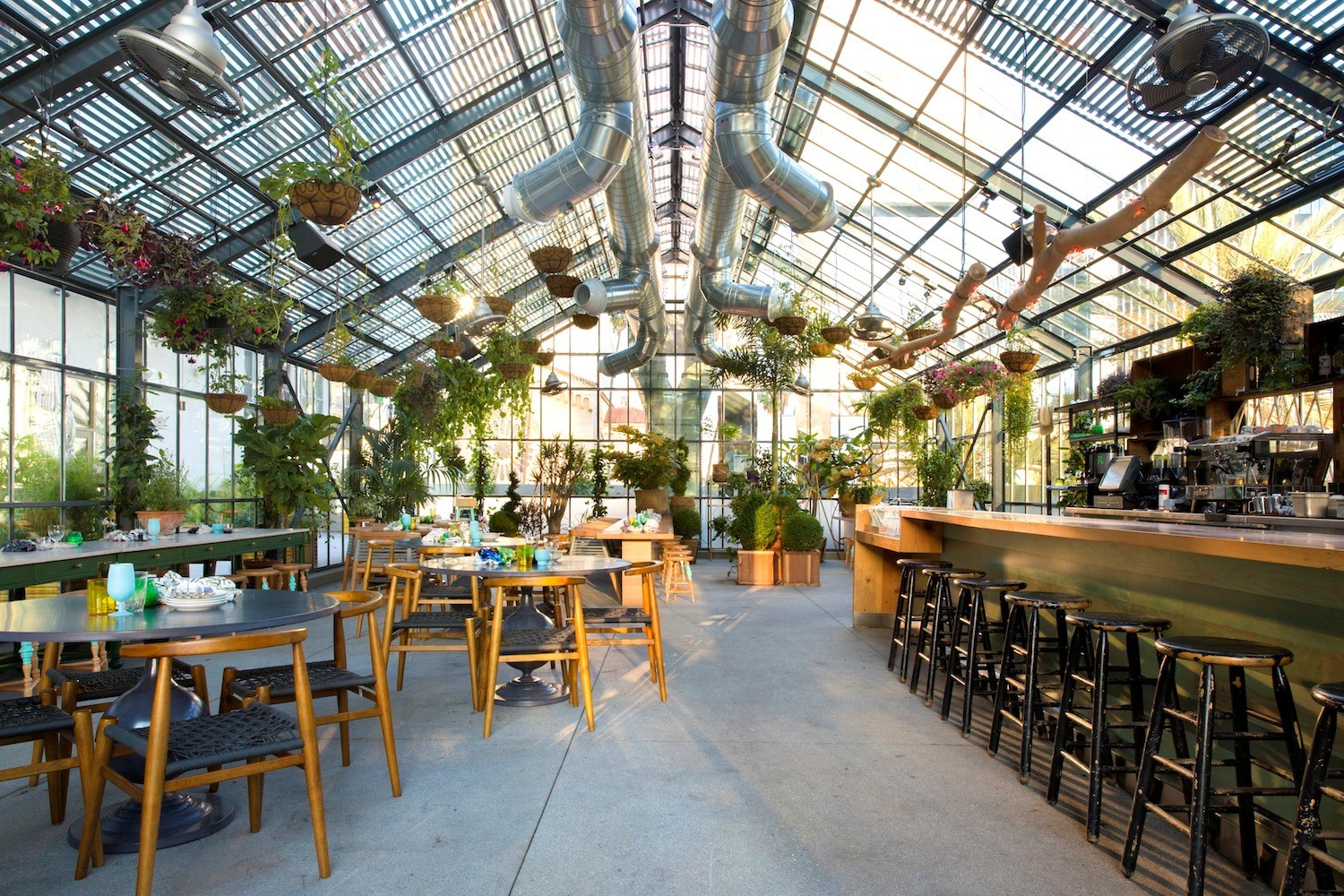 Three brilliant restaurant gardens another - The line hotel los angeles ...