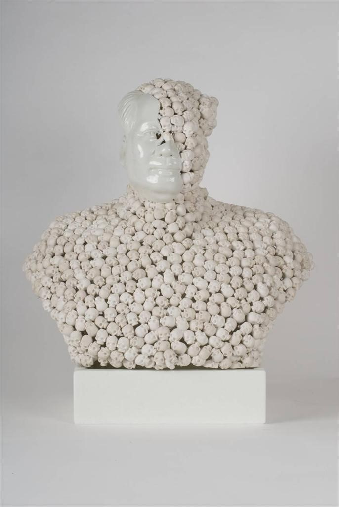 Skull Face Mao, Bouke De Vries, 2010, 20th century Chinese p