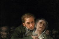Self Portrait with Doctor Arrieta Francisco de Goya 1820