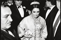 Elizabeth Taylor, opening night of Dr. Faustus, NYC. '68