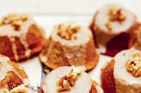 Coffee, Cardamom and walnut cakes