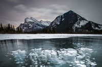 Frozen bubbles in Banff National Park, Canada