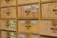 Moscot drawers, Orchard Street store
