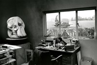 Andre Kertesz, Henry Moore's Studio with Elephant