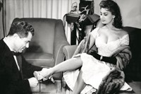 Salvatore Ferragamo with Sofia Loren as she tries on a Tavar