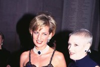 Liz Tilberis and Princess Diana at the The Costume Institute