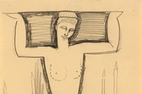 Modigliani, Caryatid Seated on Plinth with Lighted Candles