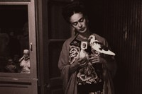 Frida Kahlo and dove, ca. 1930s
