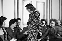 US service women at a fashion salon, Paris, 1944