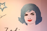 Jackie O stencil by David Urquhart