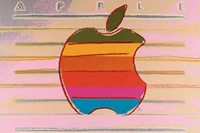 Apple advertisement by Andy Warhol, 1985