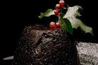 Eating Christmas Pudding in the UK