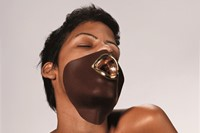 Naomi Filmer, Materials chocolate, gold plated silver Masque