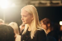 Maja Salamon backstage at Tommy Hilfiger A/W14