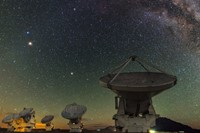 ALMA antennas beneath the central regions of the Milky Way