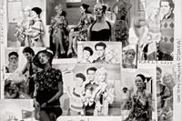 Collage of Antonio Lopez's pictures by Karl Lagerfeld, signe