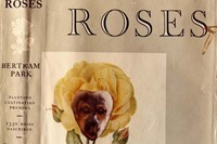 Defaced book jacket and spine of 'Collins Guide to Roses' by