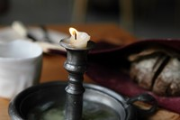 Beef dripping candle