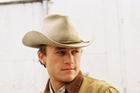 Heath Ledger as Ennis Del Mar in Brokeback Mountain