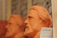 Terracotta penny-bank busts of John Ruskin at the colosseum