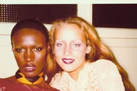 Jerry Hall and Grace Jones at Antonio's rue de Rennes apartm